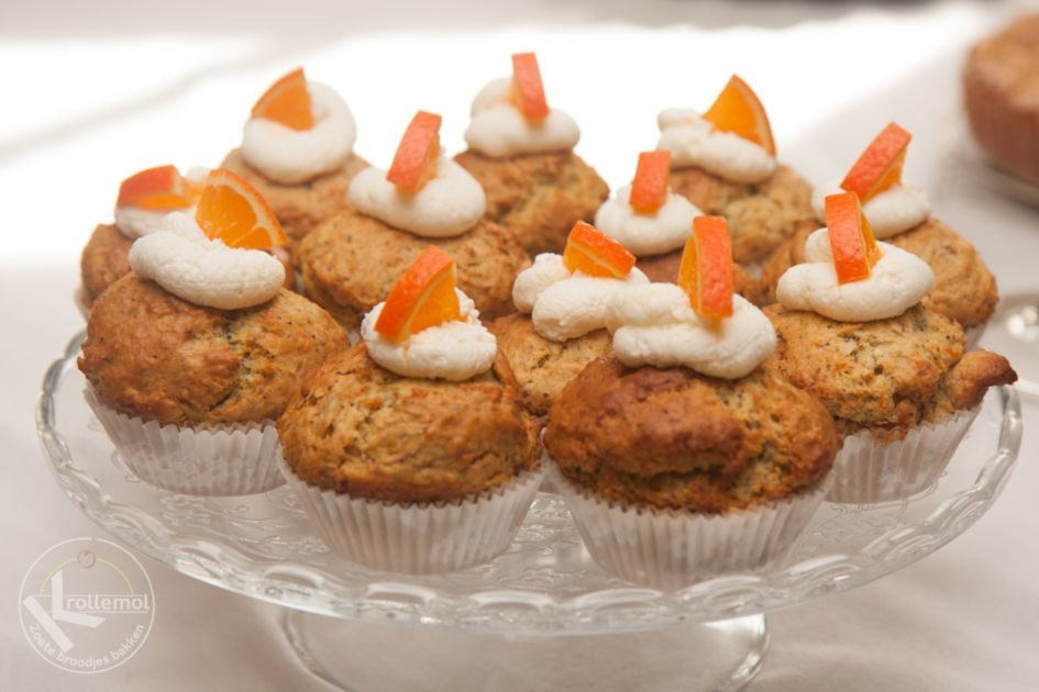 muffins met sinaasappels