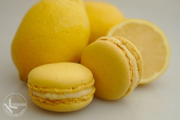 macaron met citroenvulling