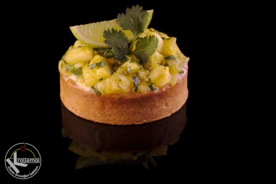 ananas limoen koriander taartje